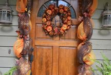 Garland with mesh Christmas and fall / by Rae Nell Marlowe