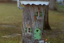 stump fairy houses