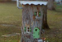 stump fairy houses
