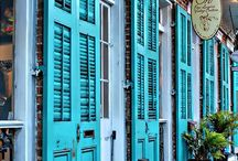 Wrought Iron and Shutters