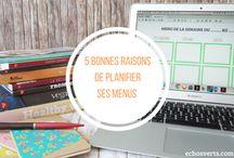 Meal planning / planifier ses menus