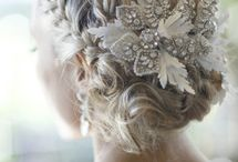 Wedding hair/jewelry