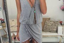 Ibiza jurk / Ibiza overslag jurk met franje