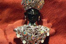 Costume jewelry Blackamoors