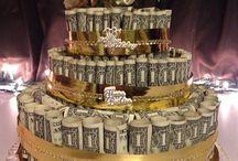 money birthday cake