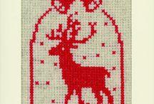 Рождественская вышивка крестиком