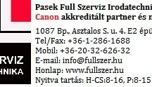 Full Szerviz Irodatechnika