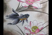 Ryoki Painting / Painting for tattoo