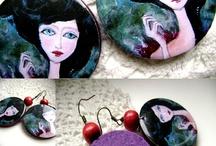 Gandre - Fekete Ágica resin earrings