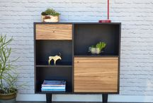 Our work - Entry cabinets & console credenzas / Solid wood pieces with plenty of space for all your belongings. We make handcrafted pieces influenced by Danish Modern style, but also heavily inspired by the vintage, minimalist aesthetic of downtown New York and Brooklyn. Made with love in NYC.