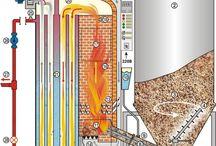 Rocket heater/woodchips-pellets.