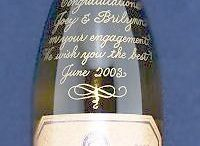 Engraved Wine Bottles / Hand engraved wine bottles make great gifts for engagements, weddings, birthdays, house warmings, anniversaries, and hostess gifts!