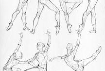 draw dancers