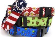 Dog Collars / Handmade fabric dog collars