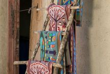 Colourful Cloths / Embroidered colourful cloths for home decor, handmade with love from Africa.