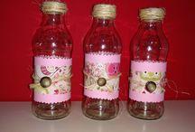 florero con botellas