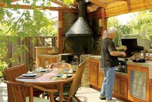 Outdoor timber  kitchens