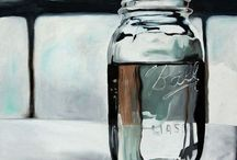 GLASS BOTTLE ( STILL LIFE )
