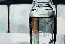 GLASS BOTTLE ( STILL LIFE )