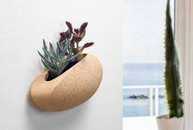 BUTTERFLY   - Vaso in Pietra da Parete -