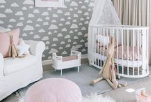 Baby girl nursery ideas / Beautiful ideas and inspiration for decorating a baby girl nursery