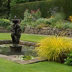 English country garden, Ilkley, West Yorkshire / Planting design, summer flowering, colour.