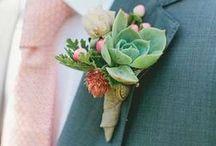 Boutonniere / Lapel buttonhole | Weddings / by Serendipity Weddings & Nails