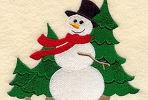 Stitching: Christmas & Snow / by Eddi Miglavs