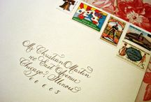 Wedding and Events Stationery / Take note! Great designs, calligraphy, colors and themes for your stationery needs