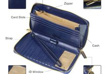 Women RFID Blocking Large Zipper Lady Wallet Wax Oil Leather