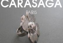 Collection Automne-Hiver 2016 / Tous les bijoux fantaisie et de création française de la collection CARASAGA Automne-Hiver 2016.