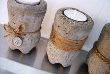 cement dekoracje