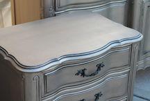 Furniture metallic paint
