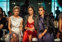 Our SS15 Fashion Show Guests / Actress Emilia Fox, mother and daughter models Amber Le Bon and Model Yasmin Le Bon and Elena Perminova wearing exclusive gowns from Isabel Garcia Gold Lable Collection.
