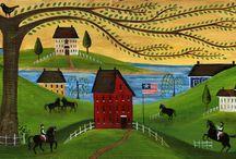 FOLK ART / Paintings of folk art / by Patricia Hitt