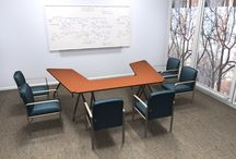 Training Room / Training and nesting tables offer flexibility in configuring your office training or multi-purpose space... We love the idea of a creating a smaller, relaxed and less formal environment.