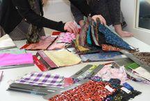 Stoffe und Warenkunde / Stoffhändler zu Besuch an der Modeschule