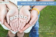 How to patch up after a fight! / Couples share their personal formula for driving the blues from a fight away...