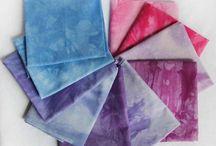 Our handdyed fabrics