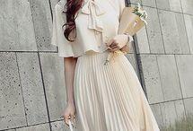 Vestidos plisados