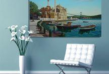 İstanbul Tabloları / İstanbul'un büyüleyici güzelliğini yansıtan harika kanvas tablolar