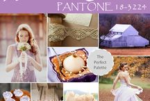 Color of the Year 2014: Radiant Orchid / Wedding inspiration using Pantone's color of the year for 2014, Radiant Orchid.