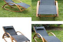 Patio Chair Furniture Outdoor Garden Home Relax Summer Lounger Pine Wooden Mesh