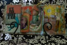 ``My Scrapbook Projects from Two Peas / Mini Albums ..... Chipboard acrylic scrapbook