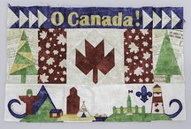 Trans-Canada Block Party Blocks / These are all the quilt blocks that Canadian shops created as part of the Block Party. Some were sent to us as part of the Quilt Shop Block Challenge and are being donated to Quilts of Valour - Canada Society.