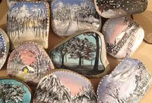 Rock Painting / Rock painting with UV material