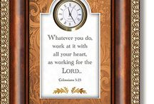 Christian Table Clocks w/ Verse / Christian Table Clocks with Verse, (Time's Essence Collection).
