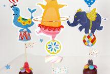 Zirkus Party / Kindergeburtstag, Mottoparty, Partyideen, Tischdeko, Girlanden, Partyspiele