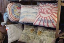 Old sack pillows