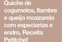RECEITA QUICHE MOZZARELLA